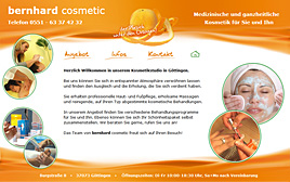 "Website ""bernhard cosmetic"""
